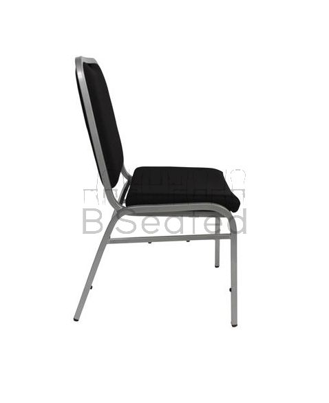 Jess Banquet Chair Black and Silver Frame