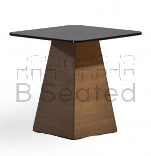 PYRAMID SIDE TABLE WITH TEAGLASS TOP
