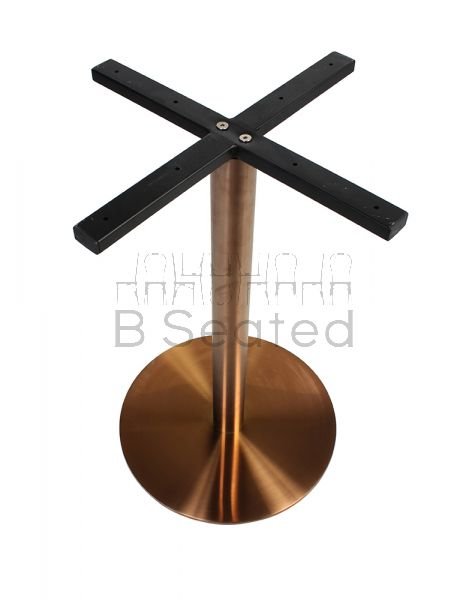 Rome Copper Disc Table Base