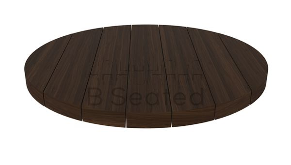 Round Slatted Timber Table Top