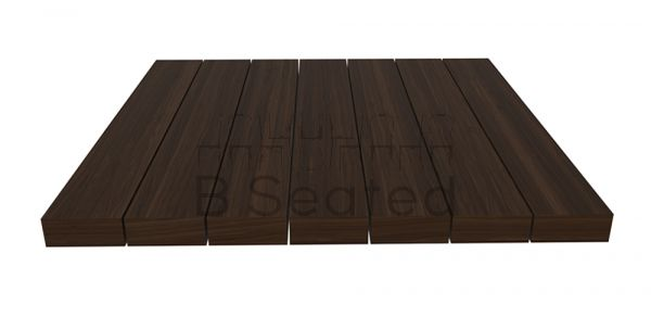 Square Slatted Timber Table Top