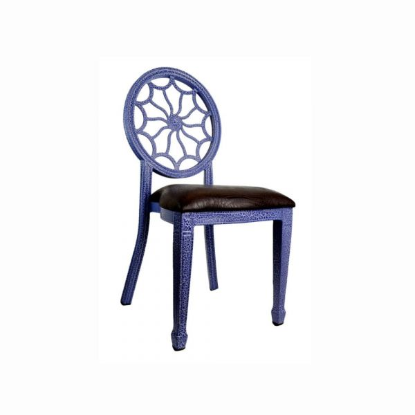 Tonic Banquet Chair - Blue, Side