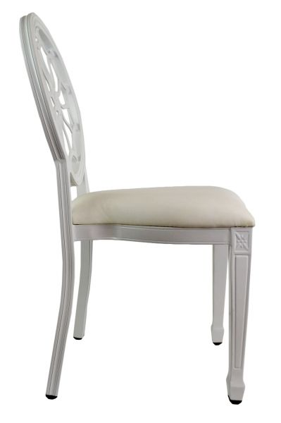 Tonic Banquet Chair - White, Side